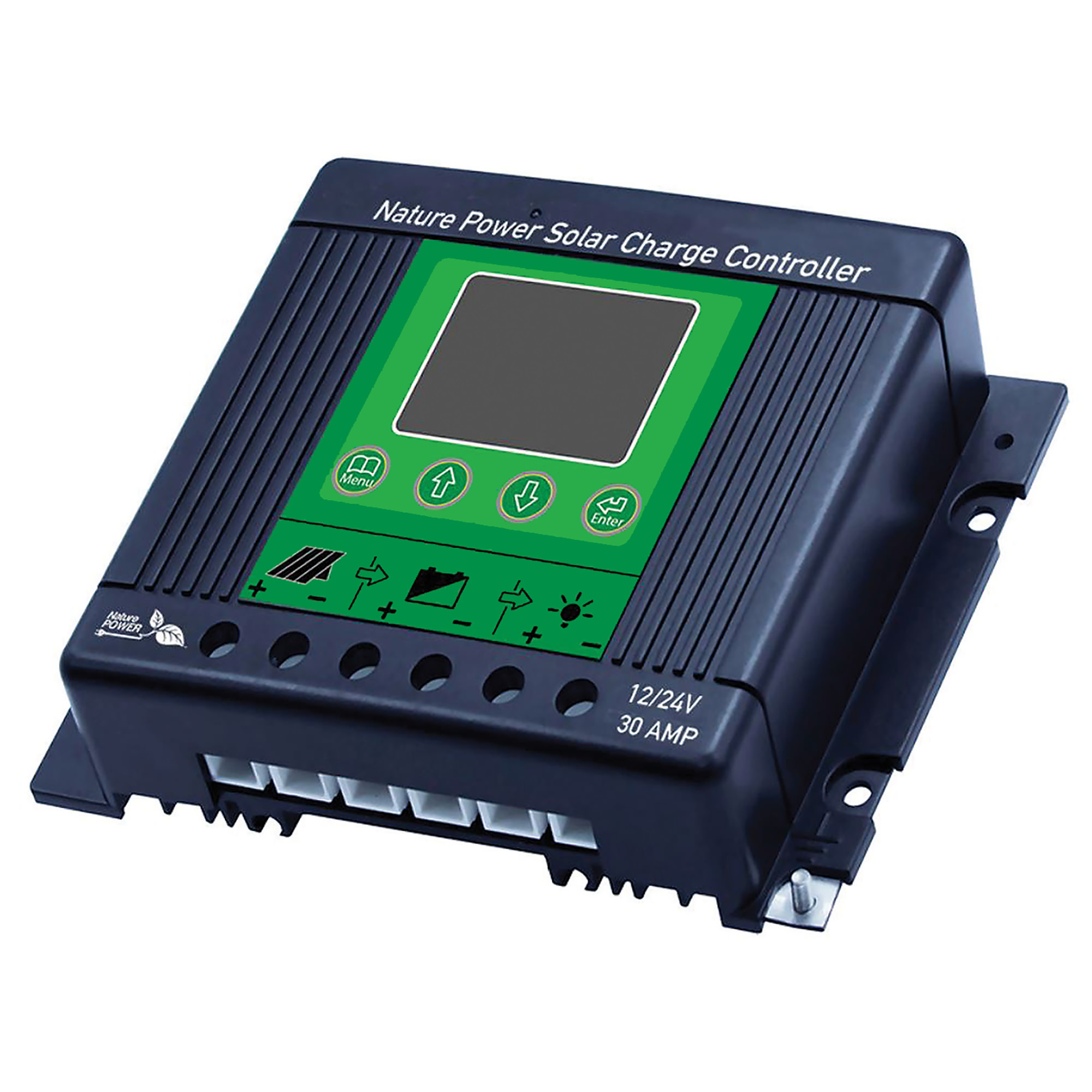 Nature Power 30 Amp Solar Charge Controller Rdk Products 60032 Chargers Controllers Camping World