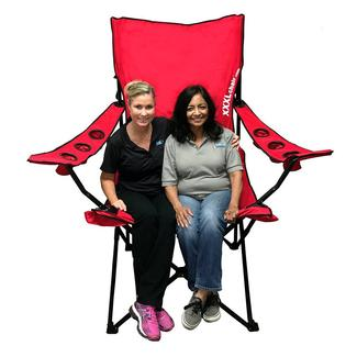 XXL Giant Sized Camp Chair, Red