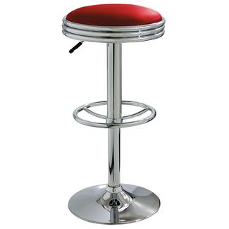 AmeriHome Retro Soda Shop Bar Stool, Red