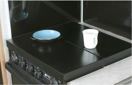 Universal Stove Top Cover - Black