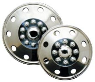 "Namsco Stainless Steel Wheel Covers, Set of 4 - 16"" All Styles"