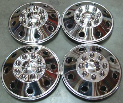 Namsco Stainless Steel Wheel Covers, Set of 4 - 16.5