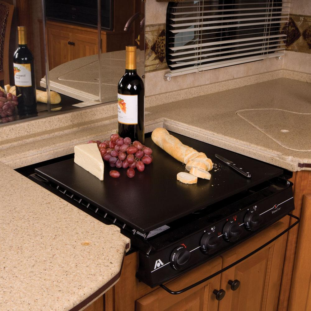 Countertop Stove Cover : Decor-Mate Stove Topper - Black - Camco 43704 - Counter & Stove Tops ...