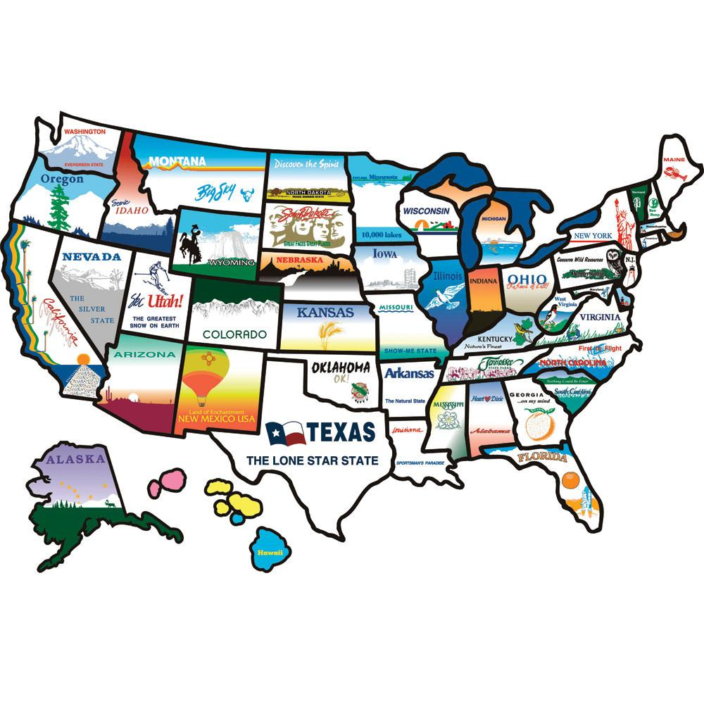 States Sticker Brothers 100 Travel Accessories Camping World – Rv Travel Map