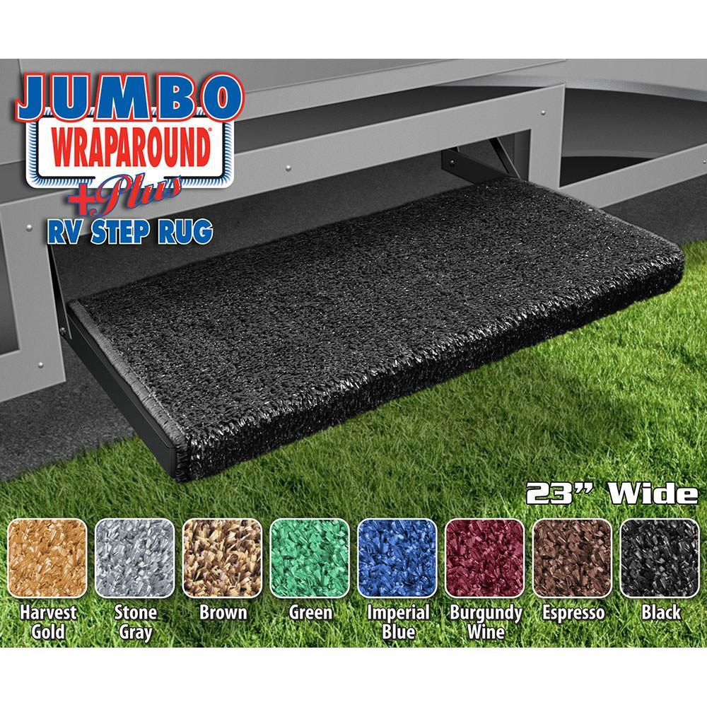 Outdoor Rv Covers : Jumbo wraparound plus rv step rug black quot prest o