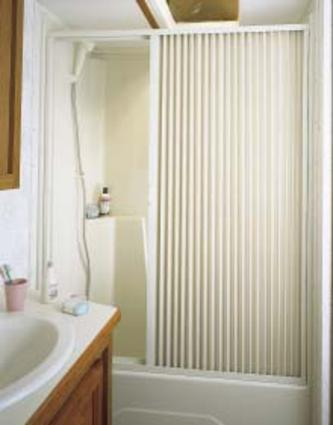 Pleated Shower Door