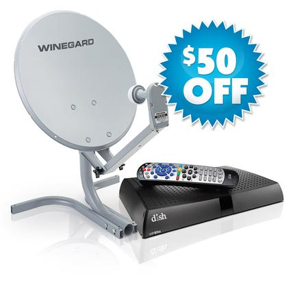 Winegard Portable Digital Satellite Antenna & DISH ViP 211z HD Receiver