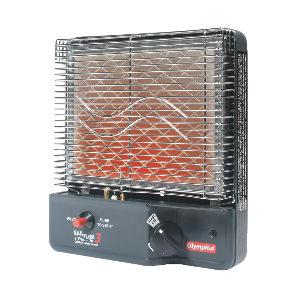 Olympian Wave 3 Catalytic Safety Heater - Camco 57331 - Portable Heaters -  Camping World