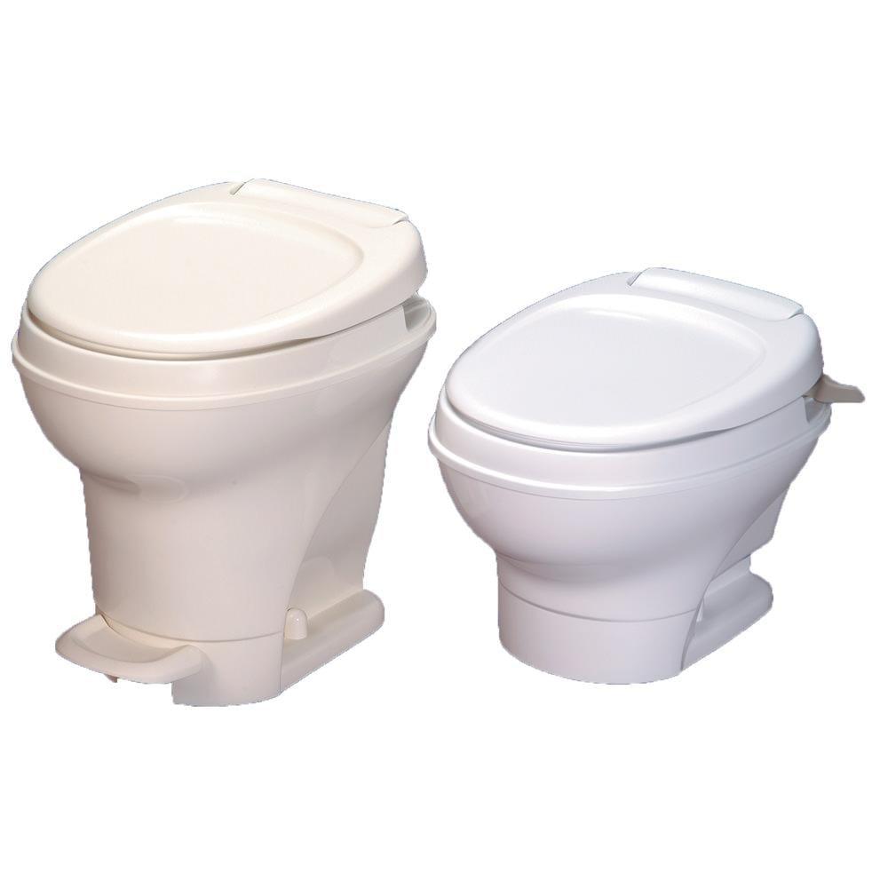 Aqua Magic V Toilet Low Profile Hand Flush Parchment