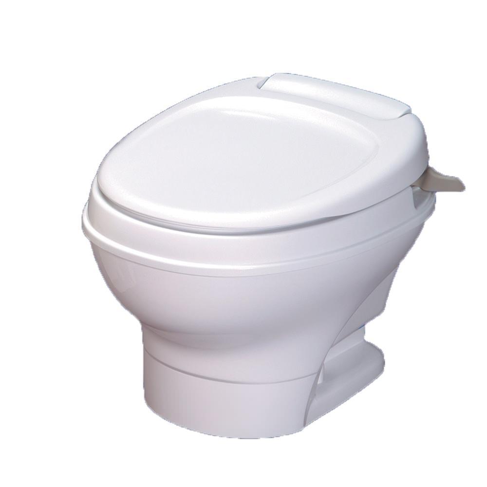 Aqua Magic V Toilet Low Profile Hand Flush  White