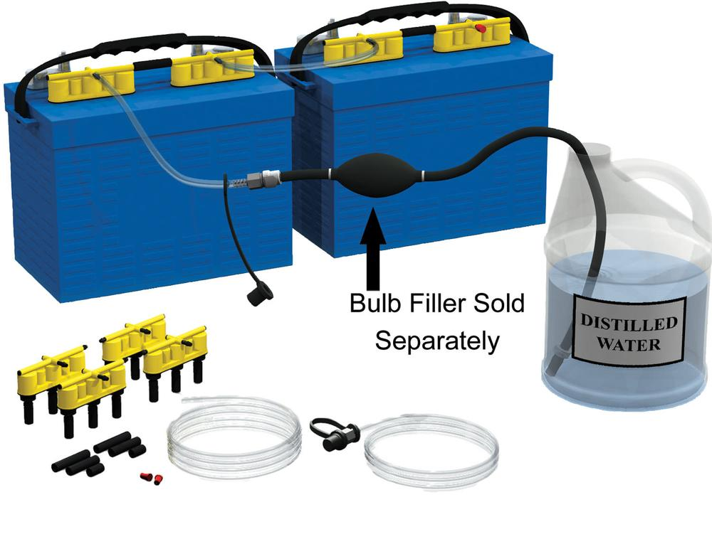 12 Volt 2 Battery Rv System : Qwik fill dual volt battery watering system flow rite