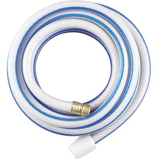 Apex White Neverkink RV/Marine Water Hose, 50' x 5/8