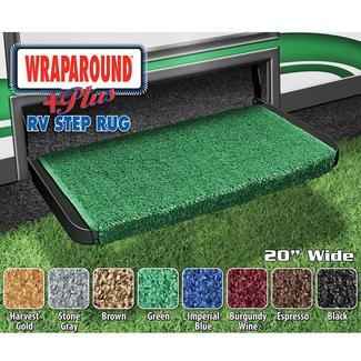 Wrap Around Plus RV Step Rug - Green, 20