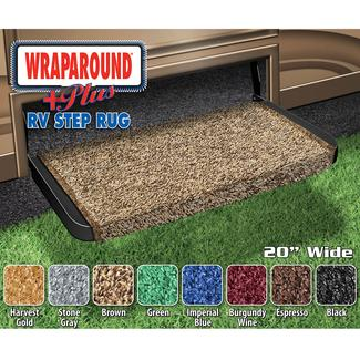 Wraparound Plus RV Step Rug - Brown, 20