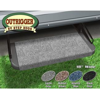 Outrigger RV Step Rug - Castle Gray, 18