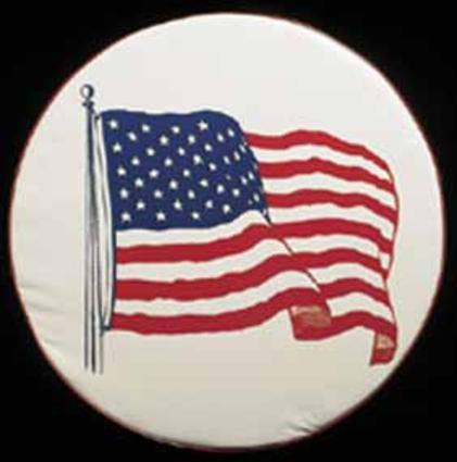 American Flag Spare Tire Cover (32 1/4