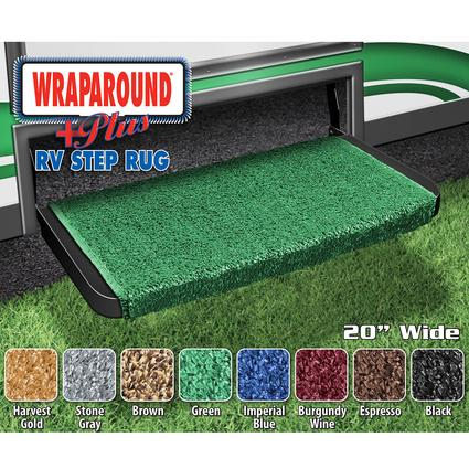 Wrap Around Plus RV Step Rug - Green