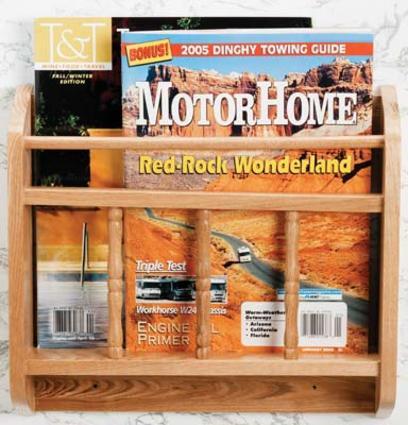 Oak Magazine Rack