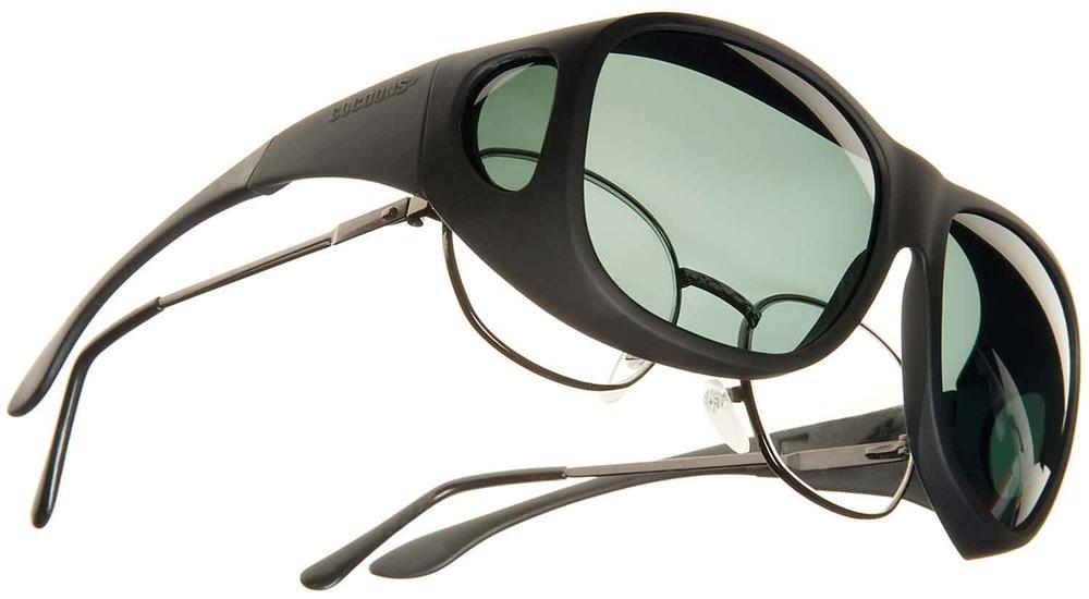 cocoons overx sunglasses larger black frame gray lens