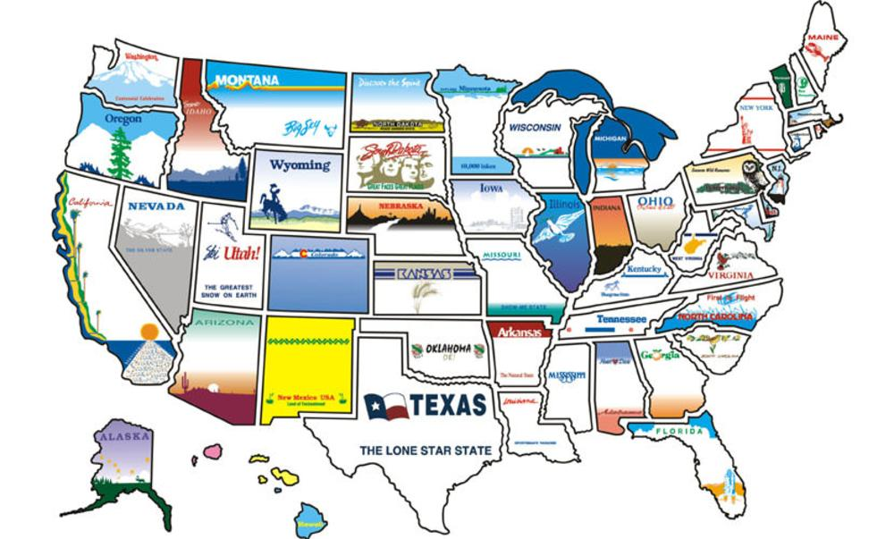 State Sticker Map Brothers 300 Travel Accessories