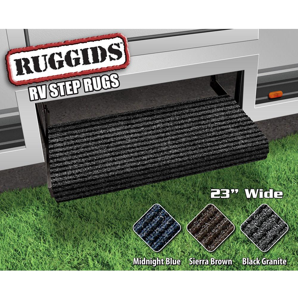 Ruggids RV Step Rug - Black Granite, 23