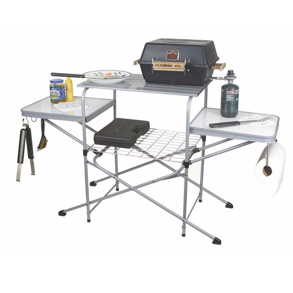 Deluxe grill table camco 57293 folding tables - Coleman small spaces bbq decoration ...