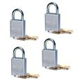 4-Pack Quick Disconnect Padlocks, Keyed Alike