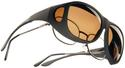 Cocoons Overx Sunglasses, Medium - Black Frame/Amber Lenses