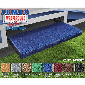 Jumbo Wraparound Plus RV Step Rug - Imperial Blue, 23