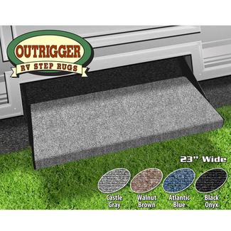 Outrigger RV Step Rug - Castle Gray, 23