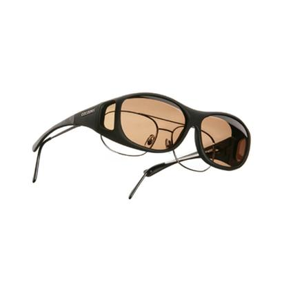 Cocoons Overx Sunglasses, Large - Black Frame/Amber Lenses