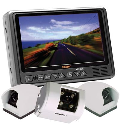 Color Voyager Tri-View Backup System with Tilt Camera