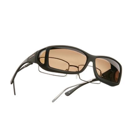 Cocoons Overx Sunglasses, Wide Line - Black Frame/Amber Lenses