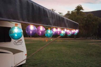Jewel Tone Globe Patio Lights