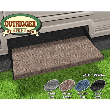 "outrigger rv step rug - walnut brown, 23"" - prest-o-fit 2-0351"