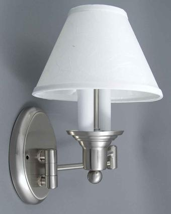 Satin Nickel Swing-Arm Sconce