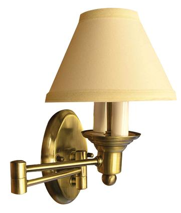 Antique Brass Swing Arm Sconce