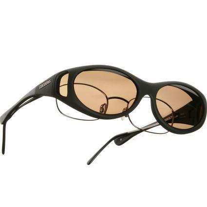 Cocoons Overx Sunglasses, Slim Line - Black Frame/Amber Lenses
