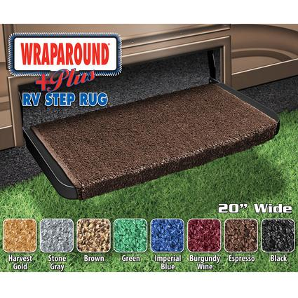 Wrap Around Plus RV Step Rug - Espresso