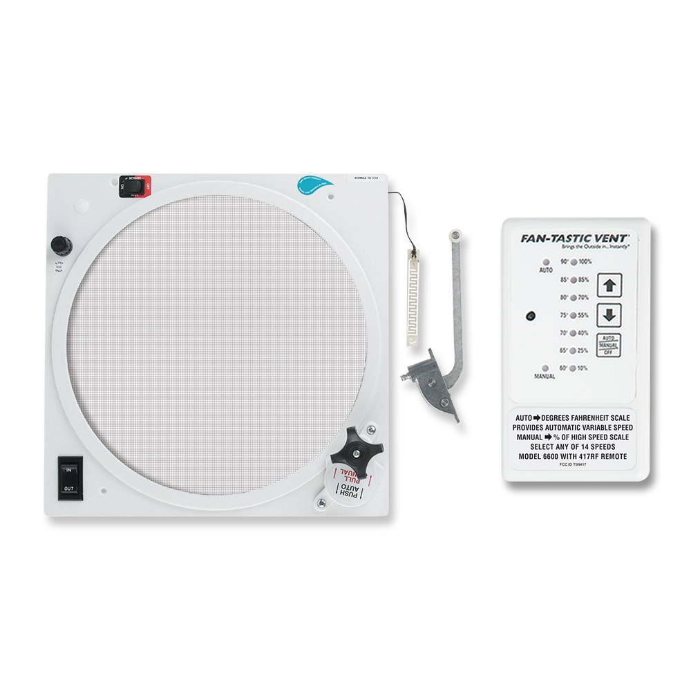 Fan-Tastic Fan Upgrade - Reverse Kit, Rain Sensor, Thermostat and Remote,  White - Dometic 807359 - Fans - Camping World