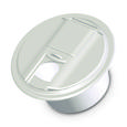 Universal Round Cable Hatch - Polar White