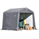 Peak Style Storage Shed 8 x 8 × 8 Gray Cover