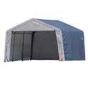 Peak Style Storage Shed 12 12 8 Gray Cover