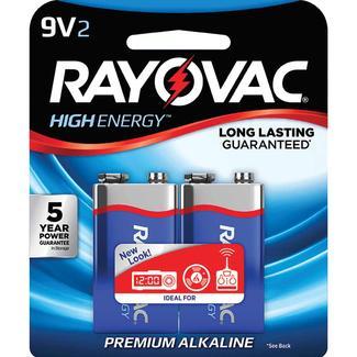Rayovac 9-Volt Batteries, 2-pack