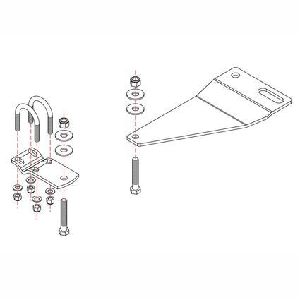 Roadmaster Reflex Steering Stabilizer Mounting Bracket, RBK13