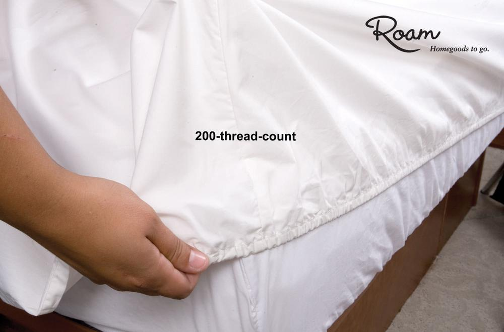 Fitted RV Sheets, French Vanilla - Short Queen - Four Corners