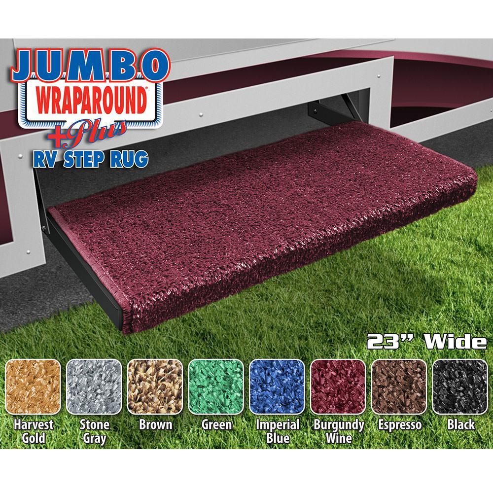 Jumbo Wraparound Plus Rv Step Rug Burgundy Wine 23