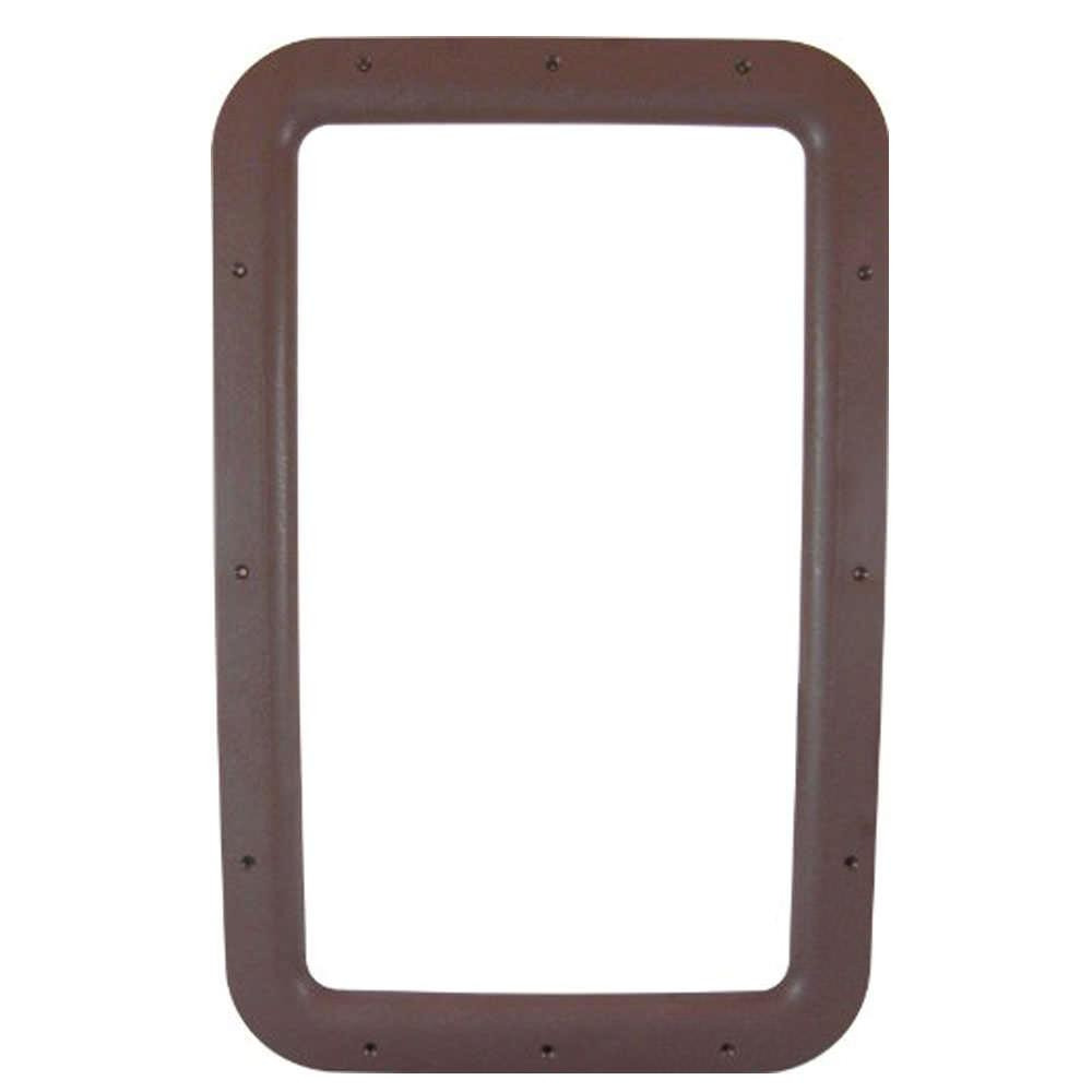 Rv entrance door window frames interior brown valterra for Entrance door and frame