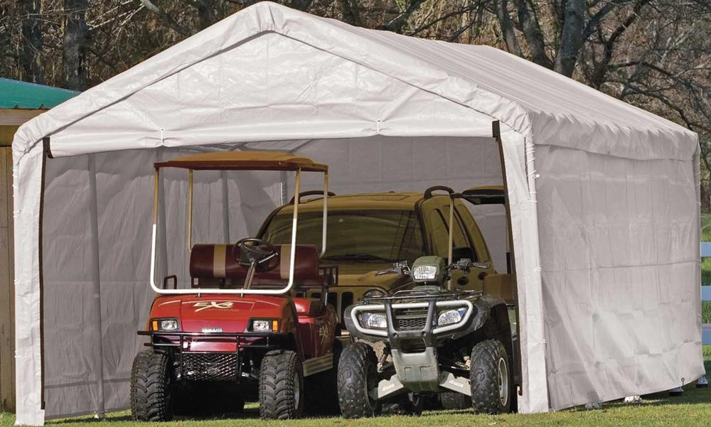 18 By 30 Instant Garage : Canopy enclosure kit shelterlogic