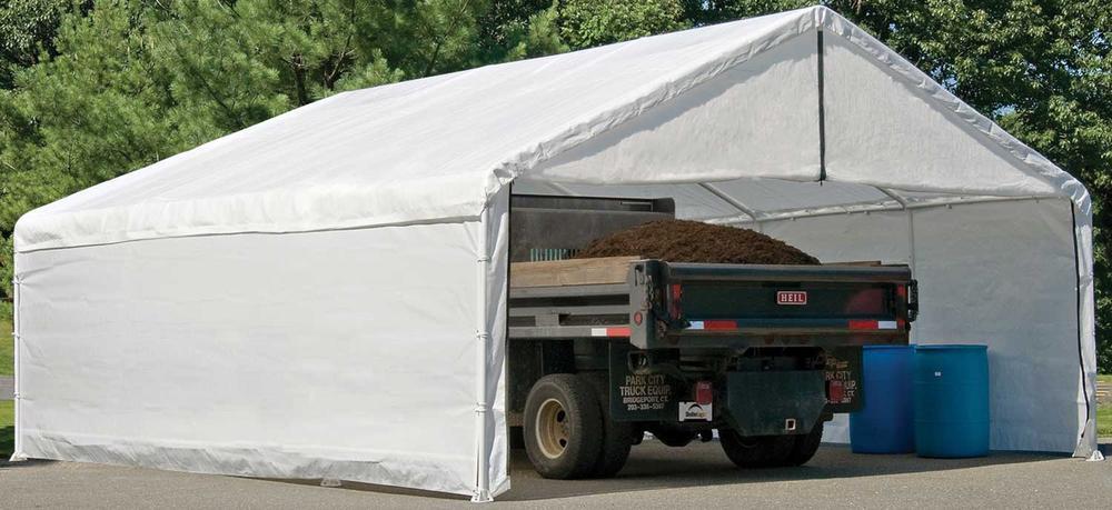 10 30 Carport Canopy : Canopy enclosure kit  shelterlogic